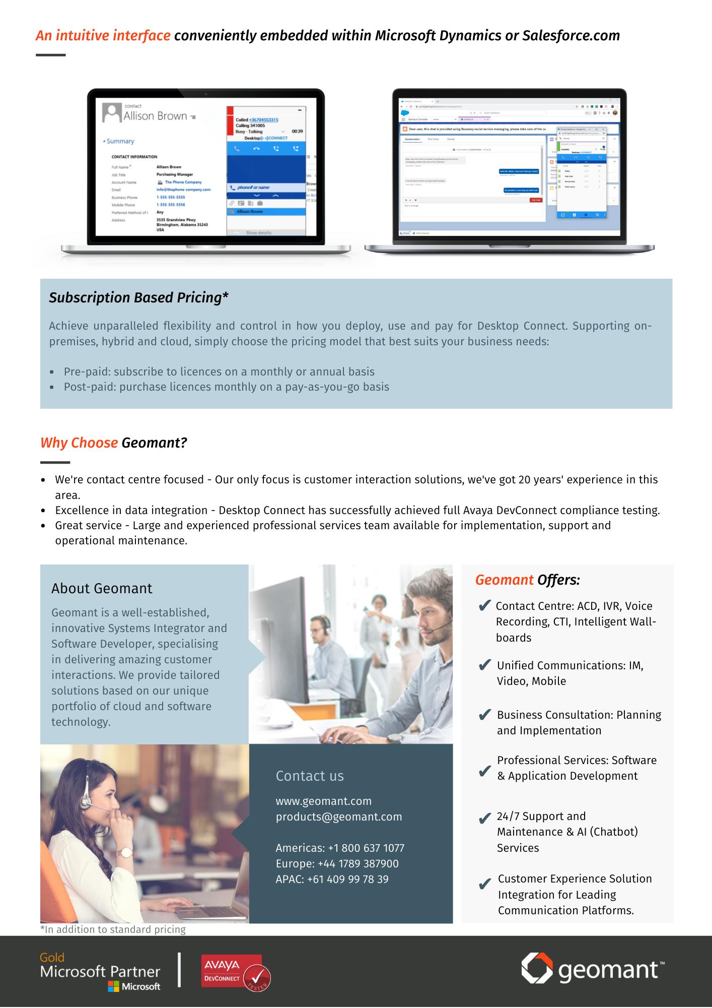 Desktop Connect with Buzzeasy Information sheet screenshot 2