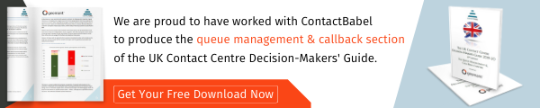 We are proud to have worked with ContactBabel to produce the queue management and callback section of the UK Contact Centre Decision-Makers Guide.-1